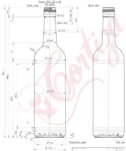 Sticla Bordeaux 308 BVS 750ml